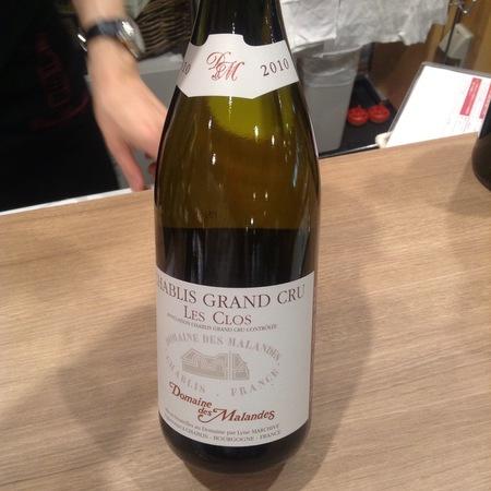 Domaine des Malandes Les Clos Chablis Grand Cru Chardonnay 2015 (750ml 12bottle)