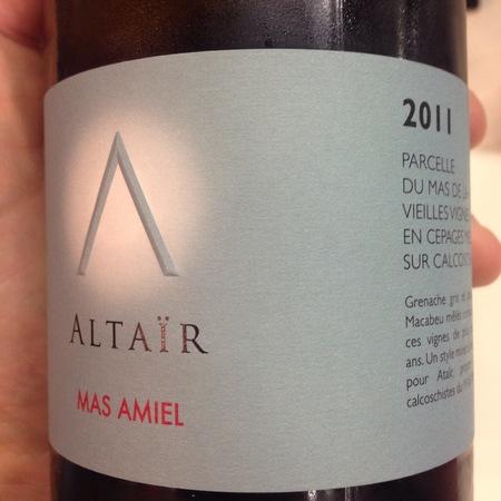 Mas Amiel Altaïr Grenache Gris Grenache Blanc Macabeu  2014