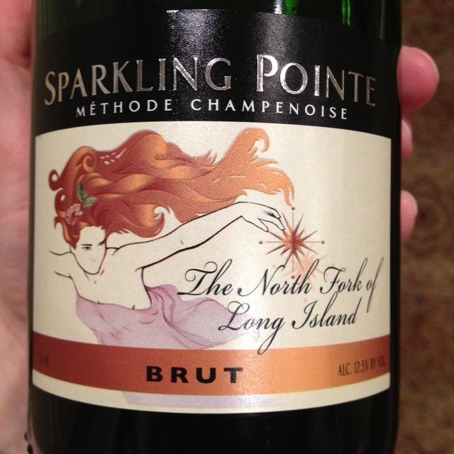 Sparkling Pointe Brut The North Folk of Long Island White Blend 2014
