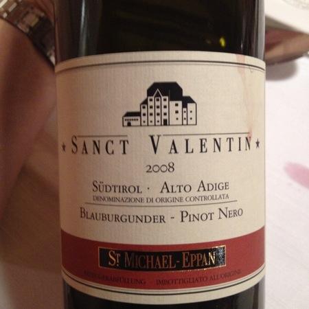 Kellerei St. Michael-Eppan Sanct Valentin Südtirol - Alto Adige Blauburgunder Pinot Nero 2012