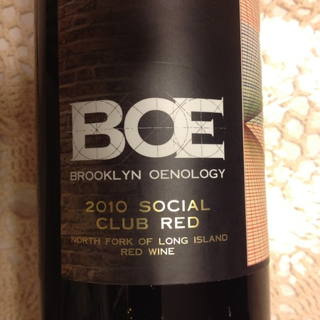 Brooklyn Oenology Social Club Red Merlot Blend 2013