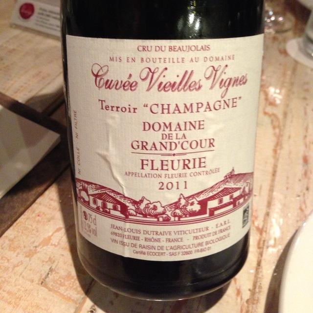 """Cuvée Vieilles Vignes Terroir """"Champagne"""" Fleurie Gamay 2015"""
