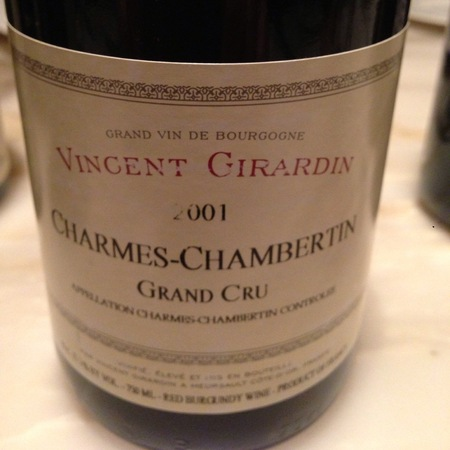 Vincent Girardin Charmes-Chambertin Grand Cru Pinot Noir 2001