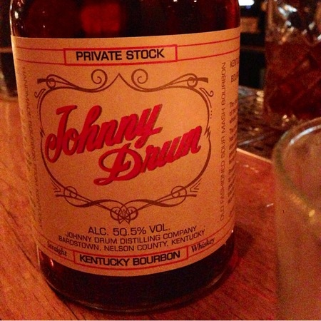 Johnny Drum  Private Stock 101 Proof Straight Kentucky Bourbon Whiskey NV