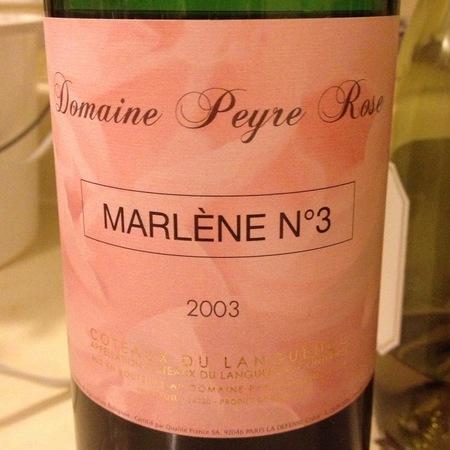Domaine de Peyre Rose Marlène N°3 Coteaux du Languedoc 2003