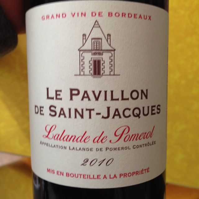 Le Pavillon de Saint-Jacques Lalande de Pomerol Red Bordeaux Blend 2014