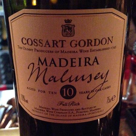 Cossart Gordon & Co. 10 Years Old Malmsey Madeira NV