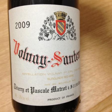 Thierry et Pascale Matrot Santenots Volnay 1er Cru Pinot Noir 2015