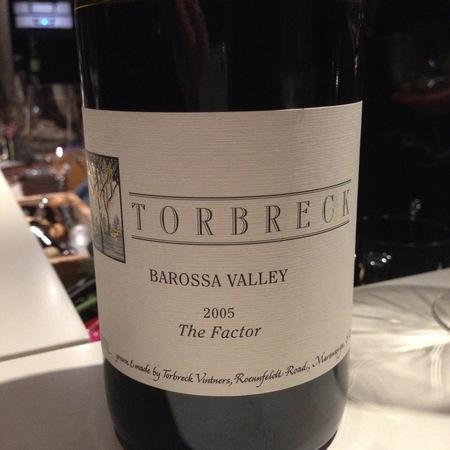 Torbreck Vintners The Factor Barossa Valley Shiraz 2005