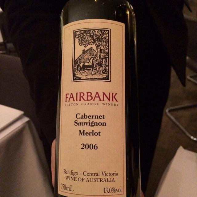 Fairbank Cabernet Merlot Blend 2007
