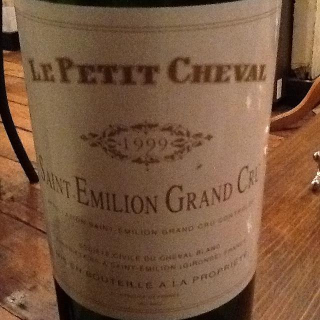 Château Cheval Blanc Le Petit Cheval St. Emilion Red Bordeaux Blend 1999