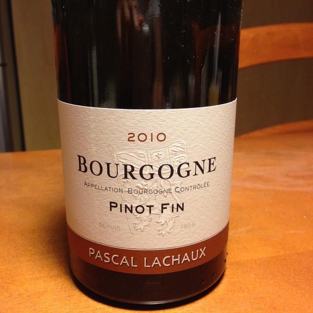 Pinot Fin Bourgogne Pinot Noir 2010