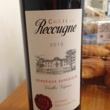 Château Recougne Vieilles Vignes Bordeaux Supérieur 2014