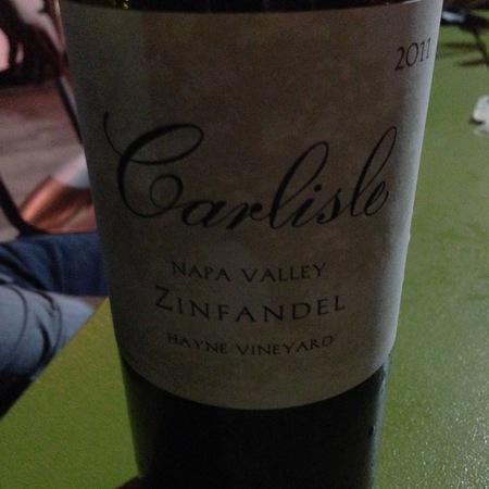 Carlisle Winery & Vineyards Hayne Vineyard Zinfandel 2011