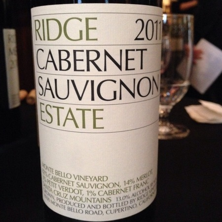 Ridge Vineyards Estate Monte Bello Vineyard Cabernet Sauvignon Blend 2014 (1500ml)