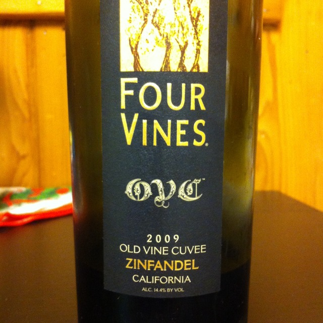 Four Vines  Old Vine Cuvee Zinfandel 2014