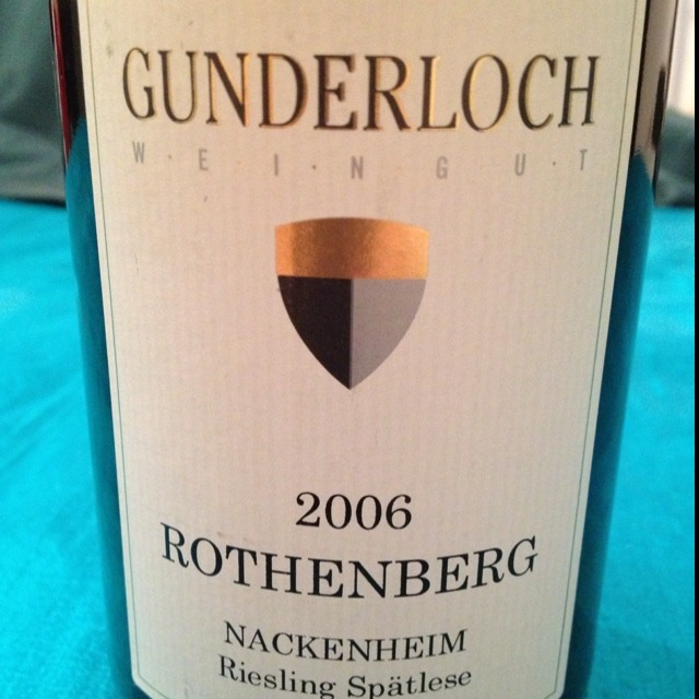 Gunderloch Nackenheim Rothenberg Spätlese Riesling 2001