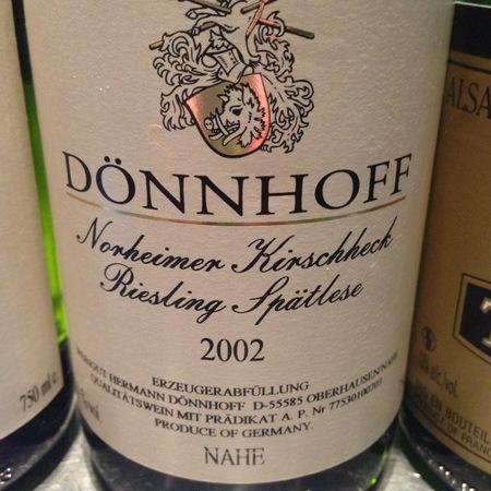 Dönnhoff  Norheimer Kirschheck Spätlese Riesling   2002