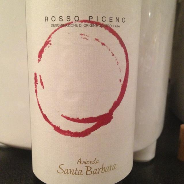 Rosso Piceno Sangiovese Blend 2014