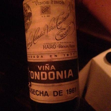 R. López de Heredia Viña Tondonia Gran Reserva Rioja Tempranillo Blend 1961