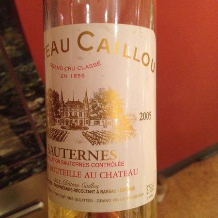 Château Caillou Sauternes Sémillon Sauvigon Blanc Blend 2005 (375ml)