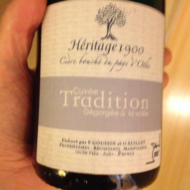 Heritage 1900 Cuvée Tradition Apple Cider 1900