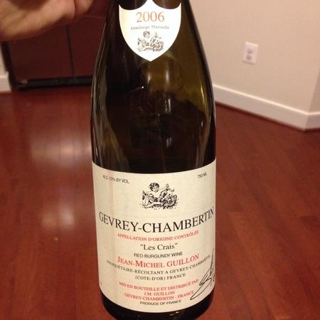 Jean-Michel Guillon Les Crais Gevrey-Chambertin Pinot Noir 2002