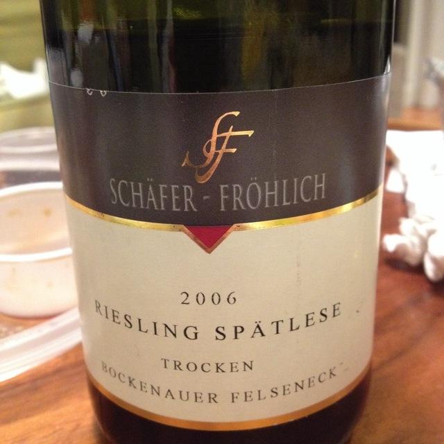 Schäfer-Fröhlich Bockenauer Felseneck Spätlese Trocken Riesling 2004