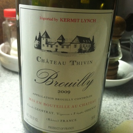 Château Thivin Brouilly Gamay 2016