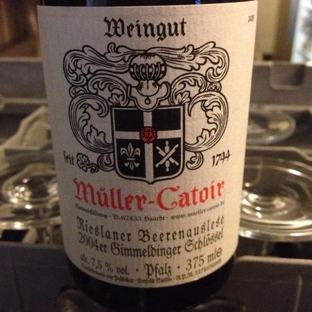 Müller-Catoir Gimmeldinger Schlössel Beerenauslese Rieslaner 2001 (375ml)