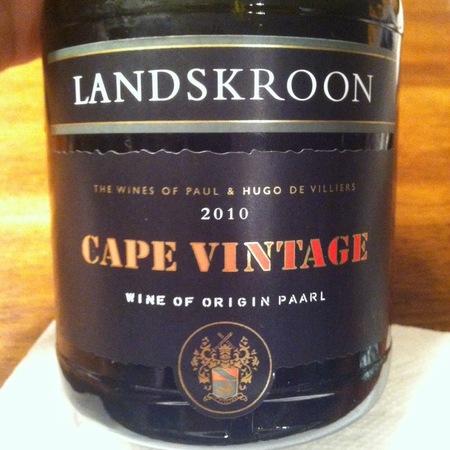 Landskroon Wines (The Wines of Paul and Hugo De Villiers) Cape Vintage Port Blend 2012