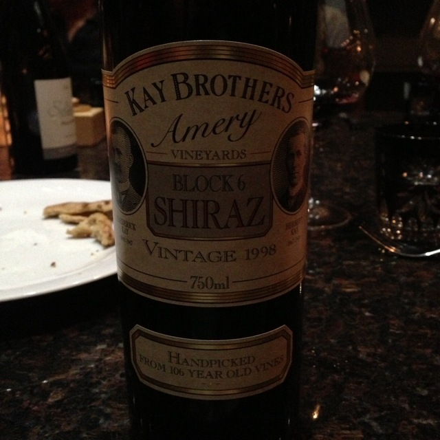 Kay Brothers Amery Vineyard Block 6 Shiraz 1998