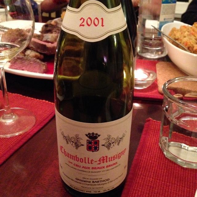 Domaine Ghislaine Barthod Aux Beaux Bruns Chambolle-Musigny 1er Cru Pinot Noir 2001
