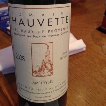 Domaine Hauvette Cuvée Amethyste Les Baux-de-Provence Grenache Blend 2012
