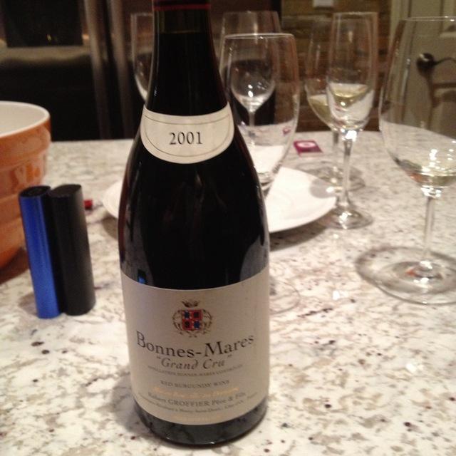 Domaine Robert Groffier  Bonnes Mares Grand Cru Pinot Noir 2001