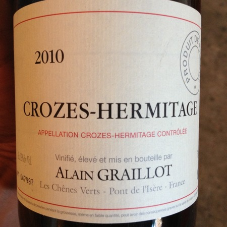 Alain Graillot Crozes-Hermitage Syrah 2010