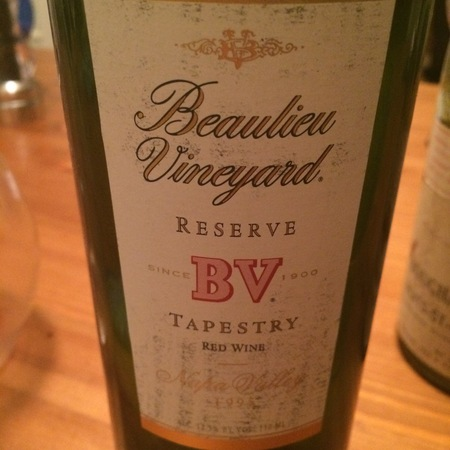 Beaulieu Vineyard BV Tapestry Reserve Napa Valley Red Bordeaux Blend 1995
