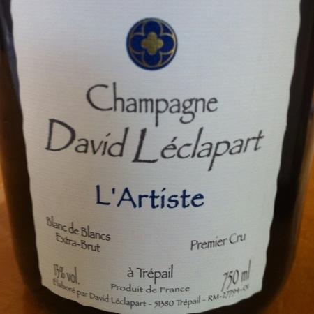 David Léclapart L'Artiste Blanc de Blancs Extra Brut Premier Cru Champagne Chardonnay NV