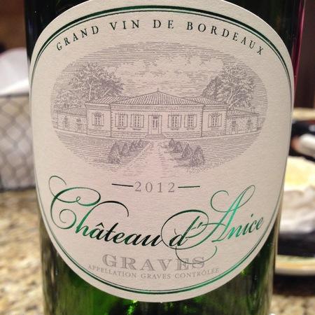 Château d'Anice Graves White Bordeaux Blend 2015