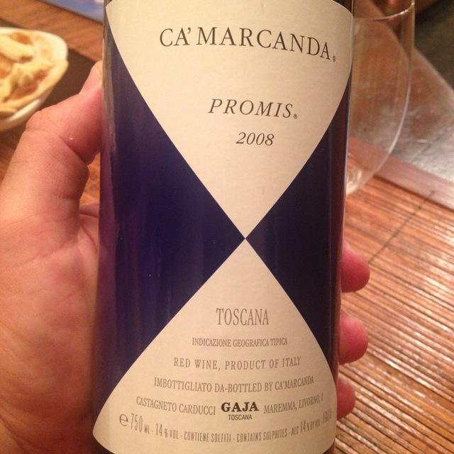 Gaja Ca'Marcanda Promis Toscana Sangiovese Blend 2008