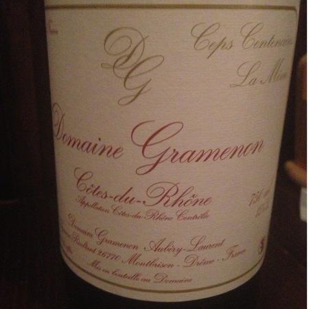 Domaine Gramenon Ceps Centenaires La Mémé Côtes du Rhône Red Rhone Blend 2015