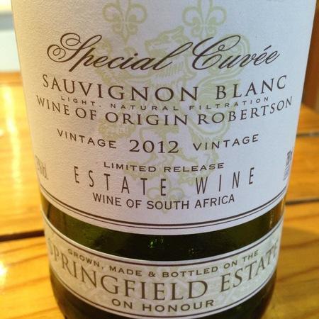 Springfield Estate Special Cuvée Sauvignon Blanc 2015
