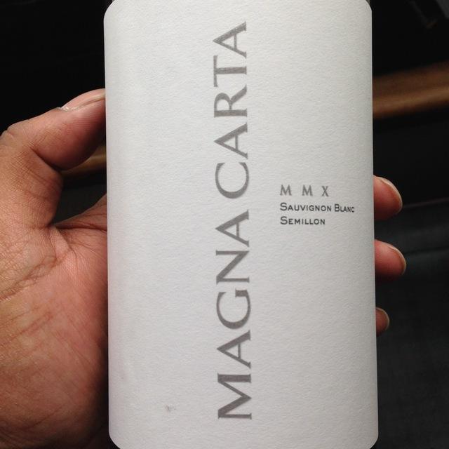 Magna Carta Sémillon-Sauvignon Blanc Blend 2012