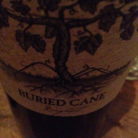 Buried Cane Roughout Cabernet Sauvignon