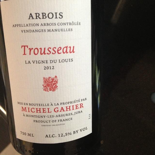 Michel Gahier La Vigne du Louis Arbois Trousseau 2015