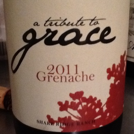 A Tribute to Grace Wines Shake Ridge Ranch Grenache 2014