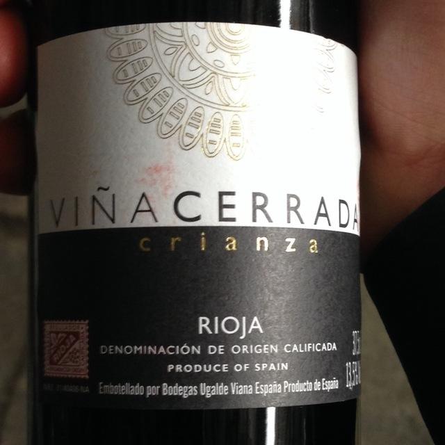 Viña Cerrada Crianza Rioja Tempranillo 2012