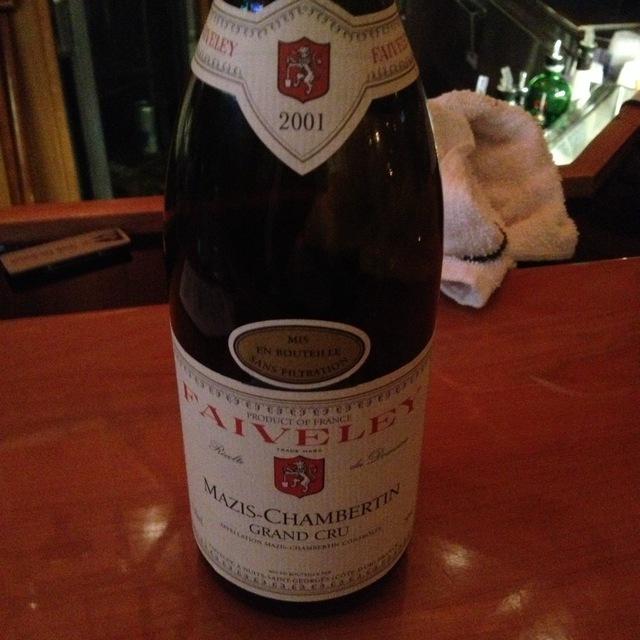 Mazis-Chambertin Grand Cru Pinot Noir 2001