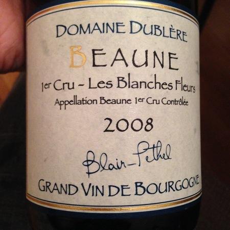 Domaine Dublère Les Blanches Fleurs Beaune 1er Cru Pinot Noir 2013