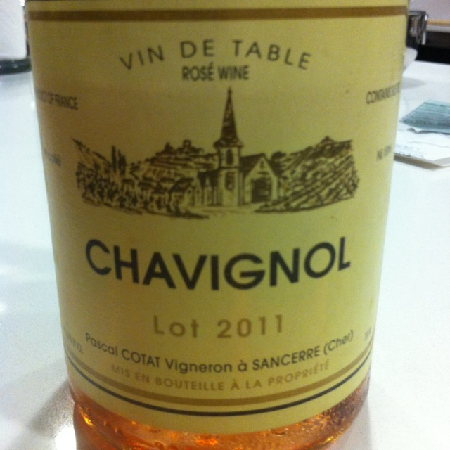Chavignol Sancerre Pinot Noir Rosé  2015